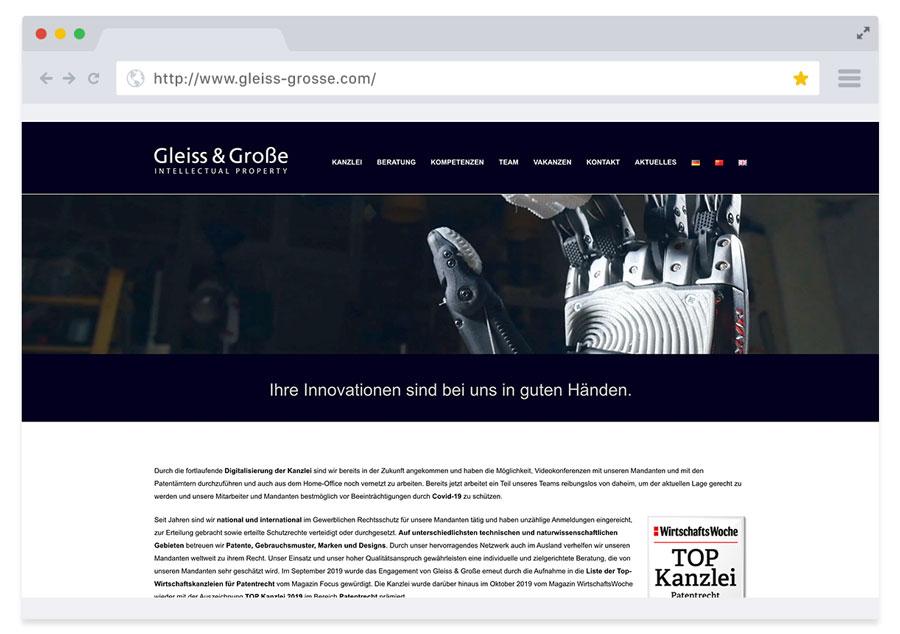 Website Gleiss & Große