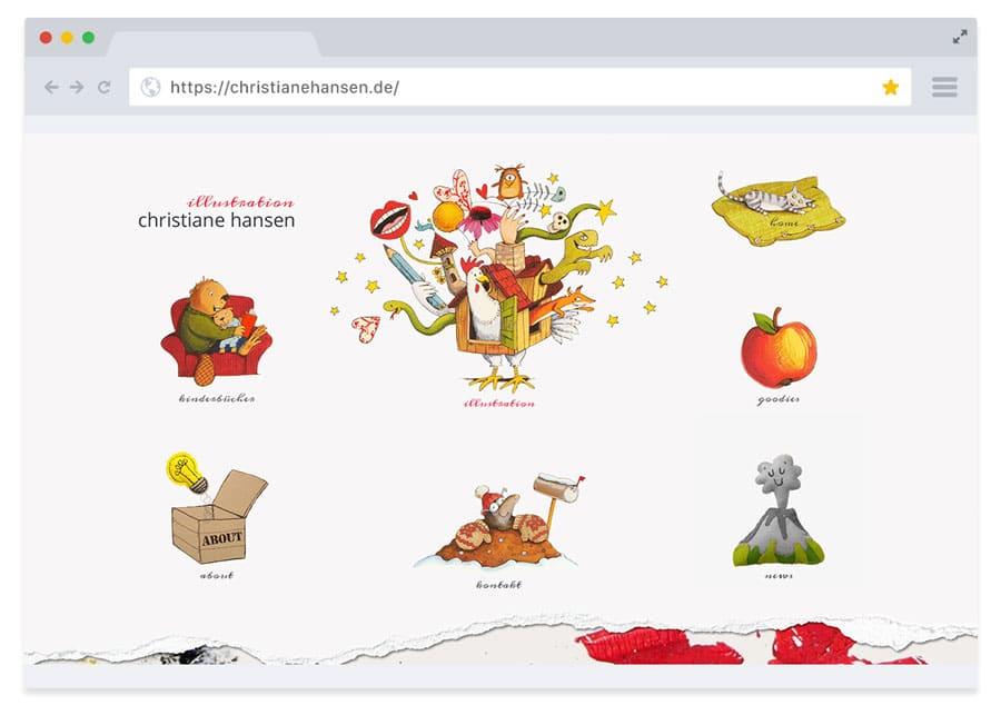 Website für die Illustratorin Christiane Hansen
