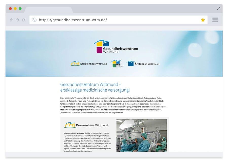 Website Gesundheitszentrum Wittmund