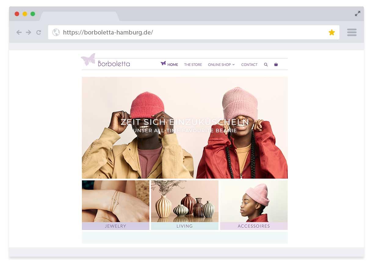 Borboletta Website