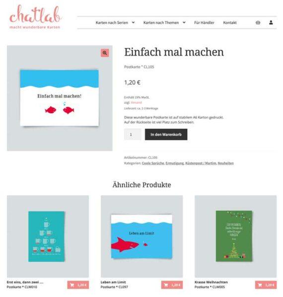 Shop Chatlab – Postkarten
