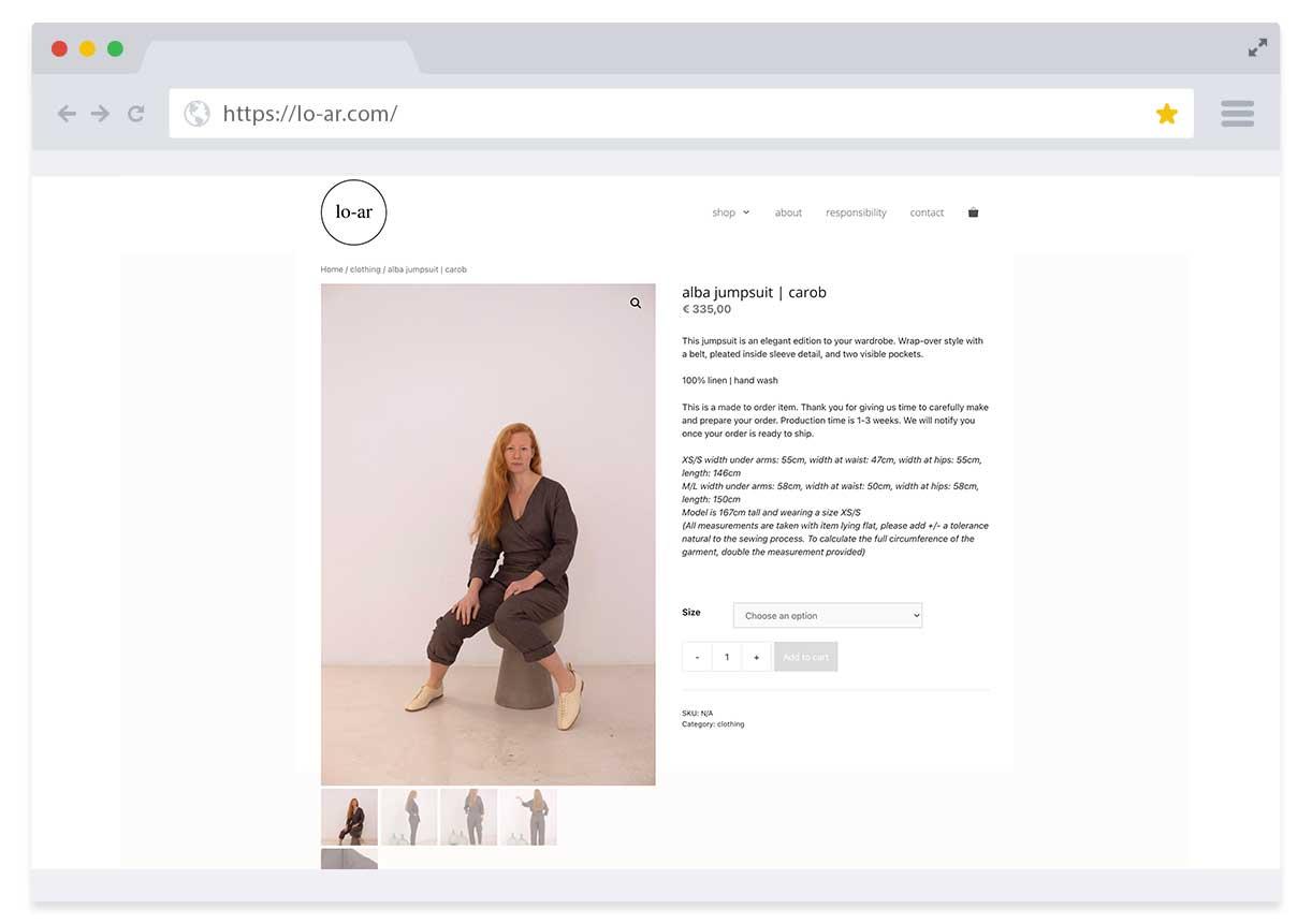 Webshop (WooCommerce) Lo-ar